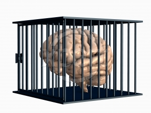 Great Repression Human Brain in Cage